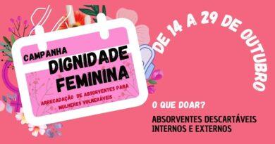 """Câmara apoia campanha """"Dignidade Feminina"""" em Três Lagoas"""